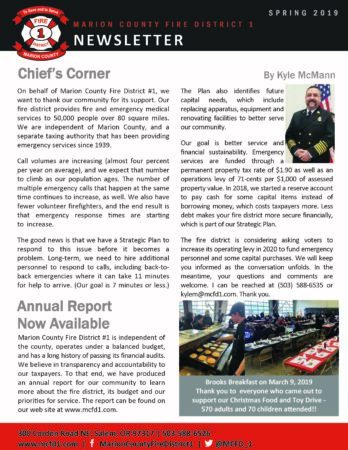 Newsletter - Spring 2019 edition