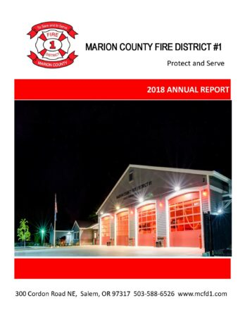 Marion County Fire District #1 2018 Annual Report